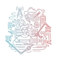 Problem solution strategy - line design vector image
