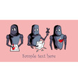 Robot with heart card design vector image vector image