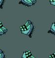 Roller skates seamless speed sport style summer vector image vector image