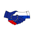 russia and european union partnership agreement vector image