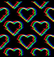 seamless pattern with symbol heart in vector image vector image