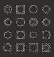 set minimal geometric vintage frames vector image
