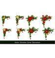 set of cristmas corner decorations vector image vector image