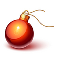 shiny red Christmas ornament vector image vector image