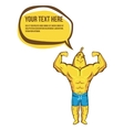 Strong fitness banana shows biceps vector image