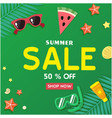 summer sale 50 off shop now starfish watermelon s vector image