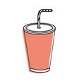 tasty soda drink beverage vector image vector image