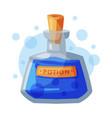 transparent bottle potion occult magic object vector image