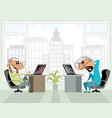 two men in the office vector image vector image