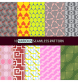 Various shape seamless pattern vector image