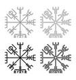 vegvisir runic compass galdrastav navigation vector image vector image