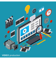 Video production isometric concept vector image