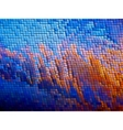 warped mosaic background vector image vector image