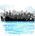 winter city vector image vector image