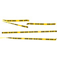 yellow police tape vector image