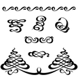 calligraphy ornament set 3 vector image