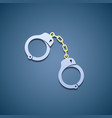 Icon handcuffs Flat graphic vector image