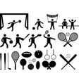Sport pictogram people and objects