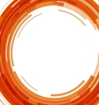 Abstract orange technology circles background vector image