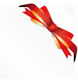 Gift red bow vector image