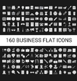 160 Business Flat Icons Collection vector image vector image