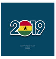 2019 ghana typography happy new year background vector image vector image