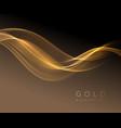 abstract shiny golden wavy design element flow vector image