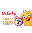Alarm clock back to school funny character