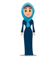 arabic woman standing straight businesswoman vector image vector image