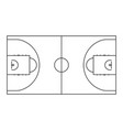 basketball court line background outline vector image