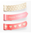 Beautiful valentine ribbons vector image