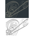 bicycle transmission system drawings vector image