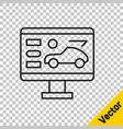black line hardware diagnostics condition car vector image vector image