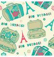 Bon Voyage Paris Vacation vector image vector image