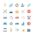 Business and Office Colored Icons 7 vector image vector image