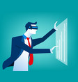 businessmen with virtual reality innovation vector image