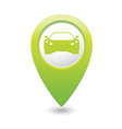 car GREEN map pointer vector image vector image
