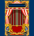 carnival poster with circus tent vector image vector image