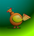 chickensRround Rooster Crowing vector image