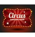 Circus lightbulb border vector image vector image