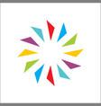 color creative circle abstract and logo vector image