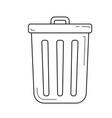 computer trash bin line icon vector image vector image