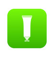 cosmetic tube icon digital green vector image vector image