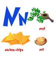 cute kids cartoon alphabet letter n