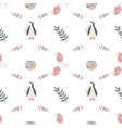 cute seamless pattern scandinavian style vector image vector image