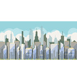 Daytime view of the city with skyscrapers vector image vector image