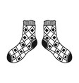 doodle socks black and white for vector image vector image