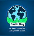 earth day greeting card eco protection concept 22 vector image vector image
