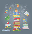 education learning knowledge concept vector image vector image