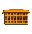 empty hamper basket vector image